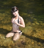 teen bikini outdoors wet bigtits cleavage handbra 07